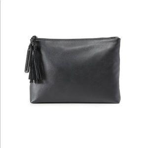 Loeffler Randall leather tassel zip pouch